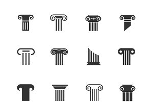 Ancient column icons