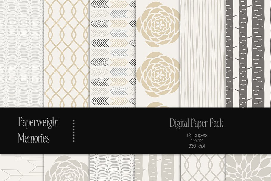 Patterned Paper Stormy Night Custom Designed Graphic Patterns Creative Market