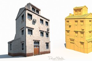 Old Building 186 Low Poly