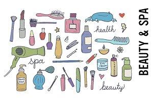 Beauty & Spa Doodle Clipart