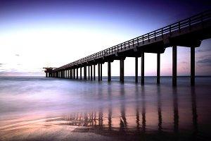 Scripps Pier in Sunset