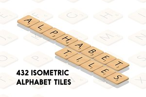 Isometric Alphabet Tiles
