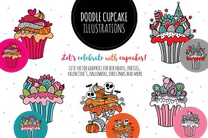 Doodle Cupcake Collection