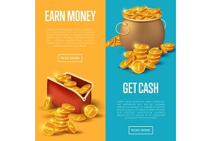 Earn money and get cash posters