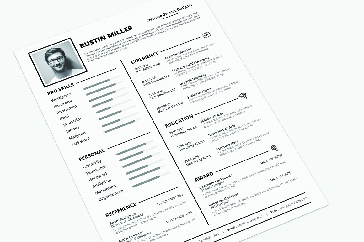 Resume ~ Resume Templates ~ Creative Market