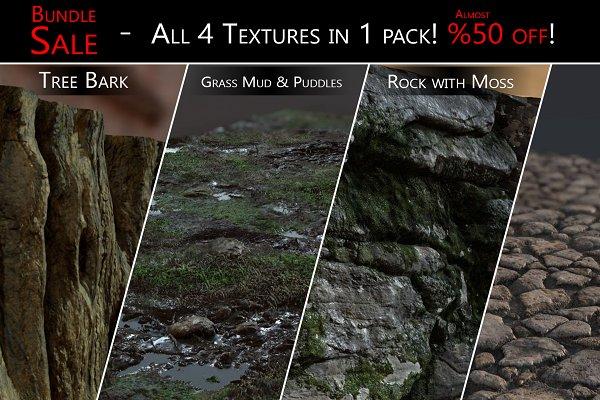 3D Organic - SALE! - 4 Textures in 1