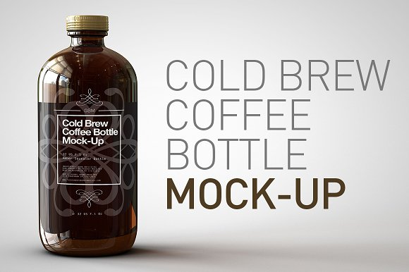 Cold Brew Coffee Bottle Mock Up Product Mockups