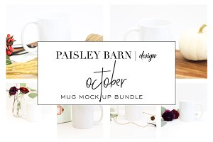 October Mug Mock Up Bundle