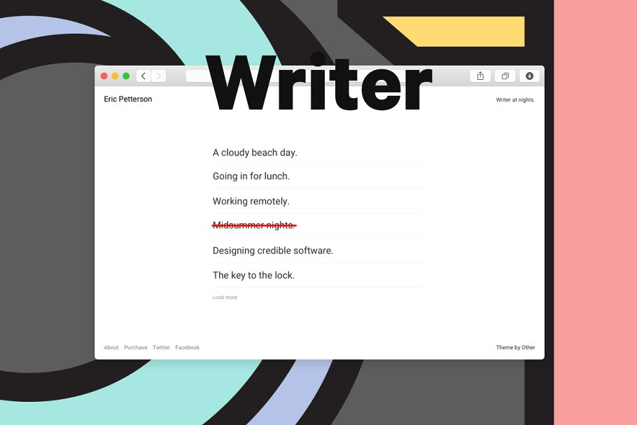 Other Writer in Tumblr Themes - product preview 8