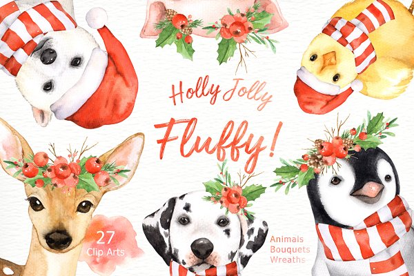 Holly Jolly Fluffy! Christmas Set