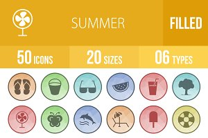 50 Summer Low Poly Icons