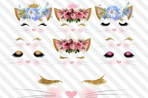 Kitty Faces clipart