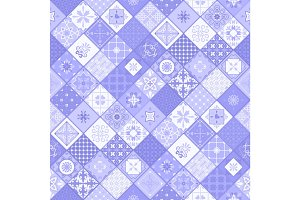 Blue rhombus modern tile background