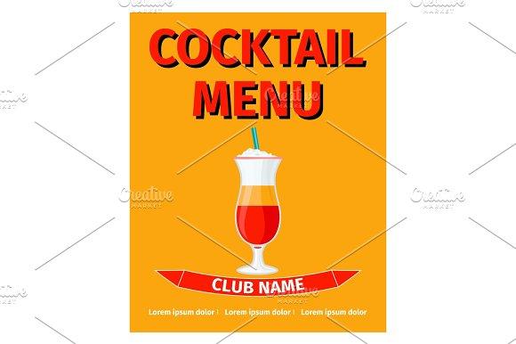 Cocktail menu retro style design
