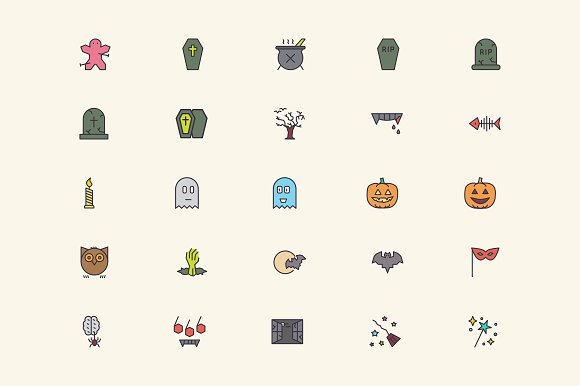 Halloween Icons in Graphics - product preview 1