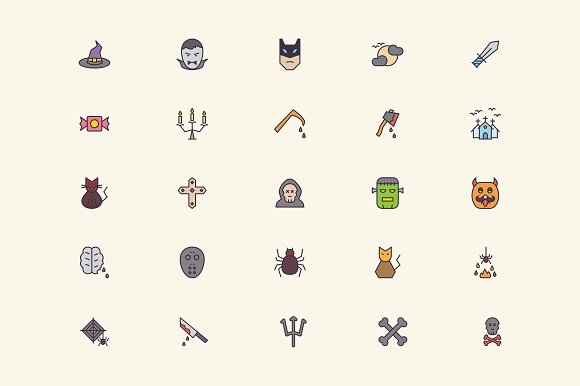 Halloween Icons in Graphics - product preview 2
