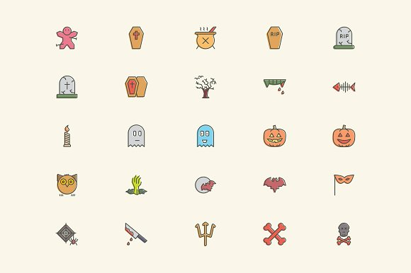 Halloween Icons in Graphics - product preview 3