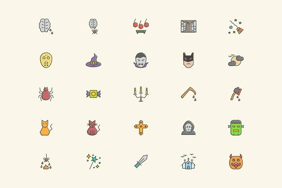 Halloween Icons in Graphics - product preview 4