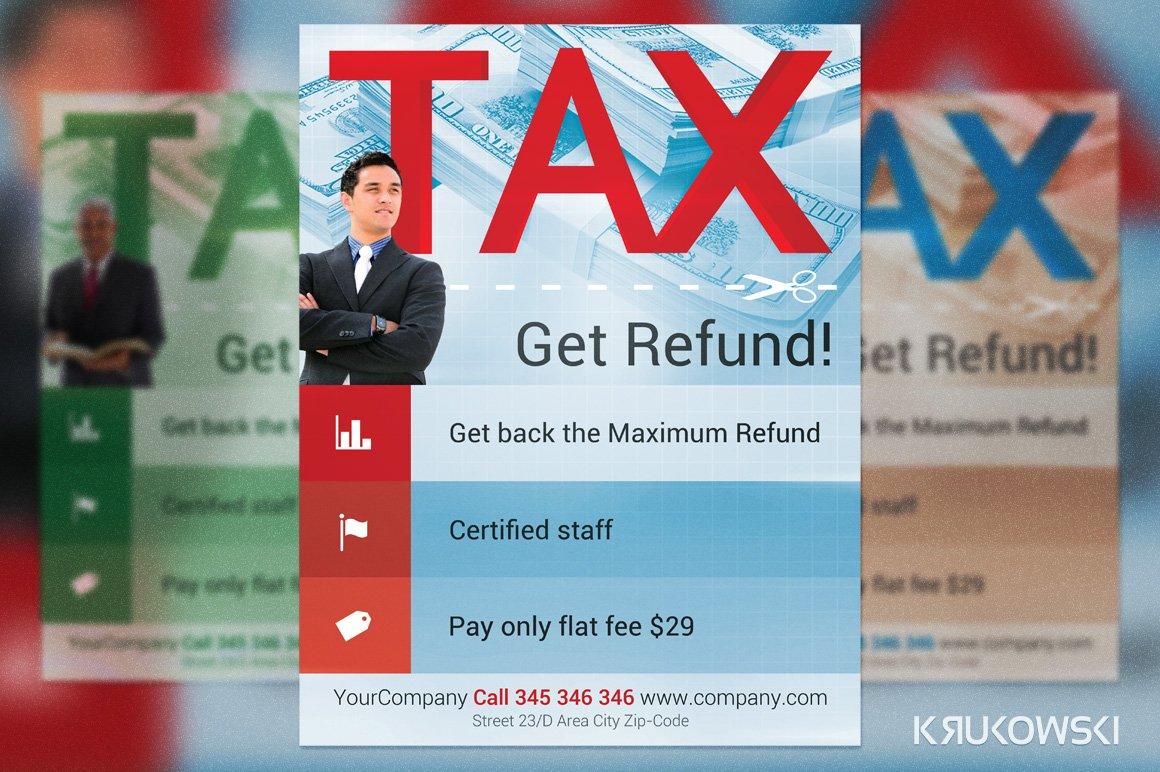 Tax refund flyer template flyer templates creative market fandeluxe Images