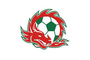 Welsh Dragon Soccer Ball