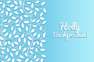 Floral Backgrounds with Holly