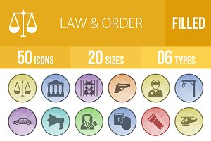 50 Law & Order Low Poly Icons