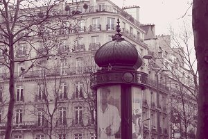 An advertising pillar in Paris