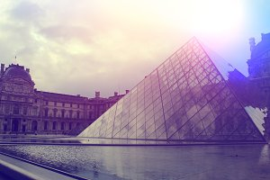 World famous Louvre in Paris