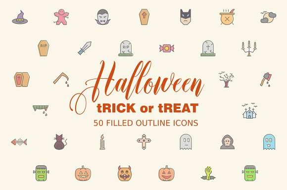 Halloween Icons in Graphics