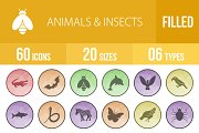 60 Animals & Insects Low Poly Icons