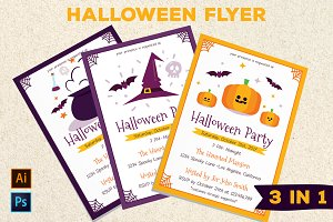 Halloween Party Poster Vol.01