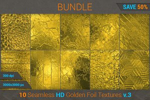 Golden Foil HD Texture Bundle (v 3)