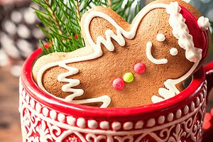 Christmas Decorations with Gingerbread man