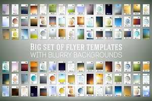 Big set of flyer templates