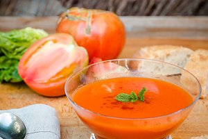 cold gazpacho soup