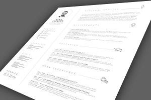 Minimalist simple resume template