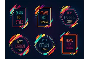 Design Best Style Icons on Vector Illustration