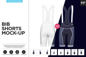 Bib Shorts Mock-up