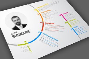 Simple resume with circle