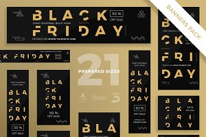 Banners Pack | Black Friday