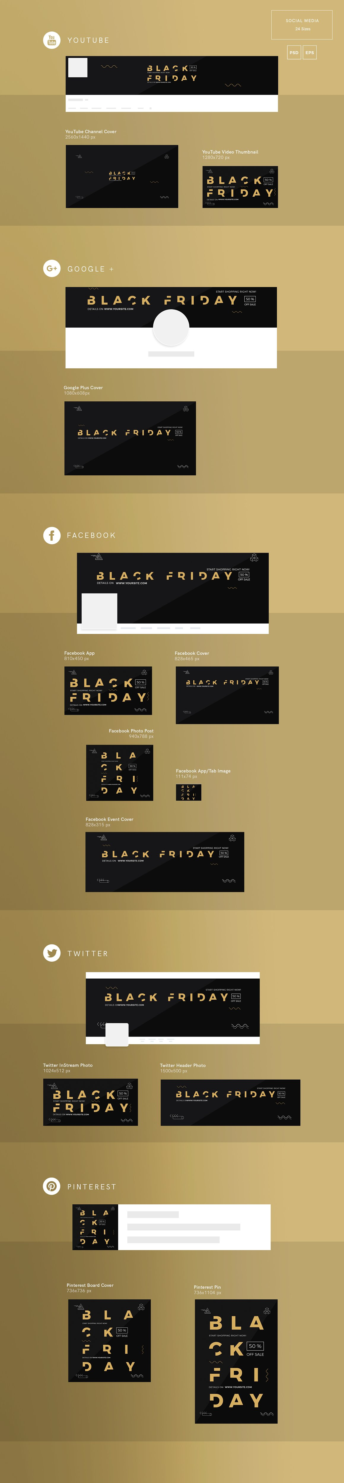 Social Media Pack | Black Friday