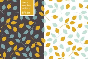 Two vector leaves patterns. EPS