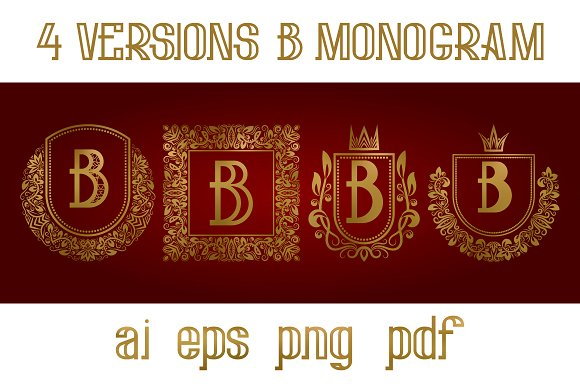 4 Versions Of B Monogram