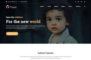 Trust – Nonprofit Charity Template