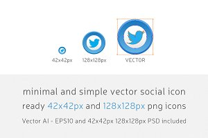 Minimal & Simple Vector Social Icons