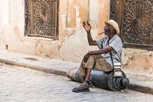 Old man in Havana, Cuba