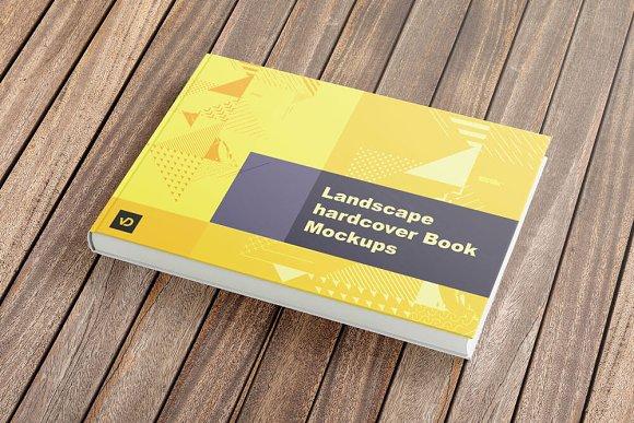 Download Landscape Hardcover Book Mockup
