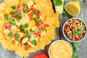 Yellow corn chips nachos