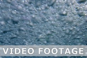 Bubbles underwater background in slow motion