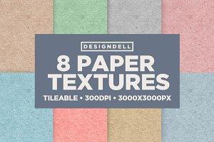 8 Tileable Paper Textures